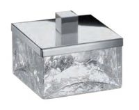 Баночка малая Box cracked crystal хром+ хрусталь кракле Windisch 88147CR