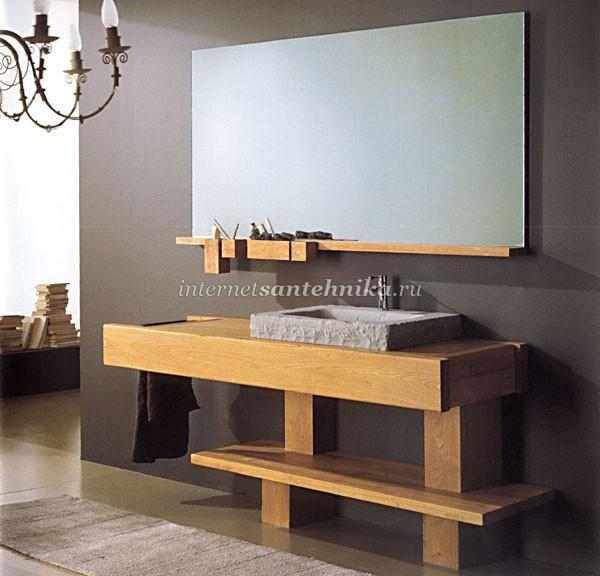 Мебель для ванной из дерева