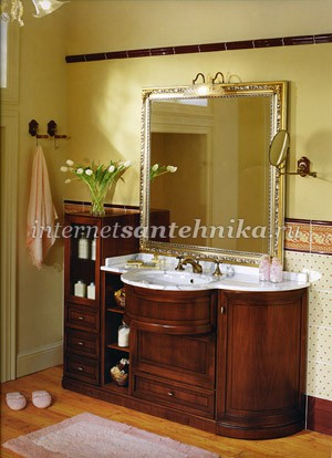 Lineatre Tudor классическая мебель для ванной комнаты из дерева